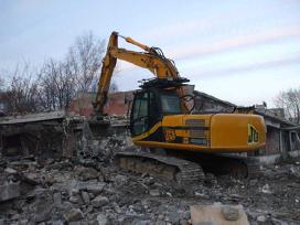 Pastatų griovimas,statybiniu atliekų išvežimas