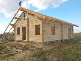 Rąstiniai namai, pirtys. Rąstinių namų statyba.