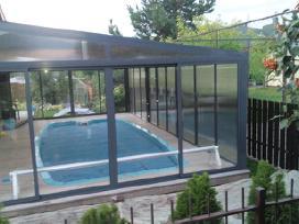 Balkonu, terasų stiklinimas aliuminio profiliais