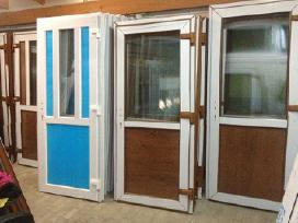 Plastikiniai Langai-lauko durys No100e -stiklo pak