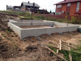 Visų tipų pamatai, betonavimas. Mūro darbai