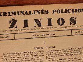Kriminalinės policijos žinios 1938m. Vsd leidinys!
