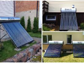 Saulės kolektoriai, saulės baterijos, vandens šild