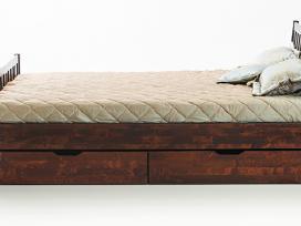 Kokybiškos lietuviškos lovos iš beržo masyvo - nuotraukos Nr. 2