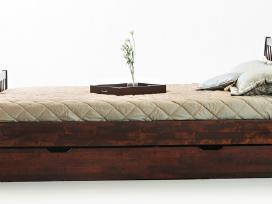 Kokybiškos lietuviškos lovos iš beržo masyvo - nuotraukos Nr. 3