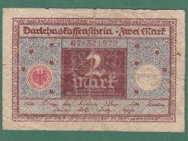 Vokietija 1920m. banknota 2 Reichsmark N211+*