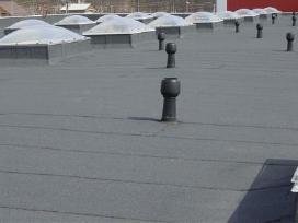 Plokščių stogų dengimas prilydoma danga