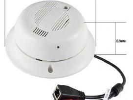 Slapta Kamera WiFi dūmų detektoriuje