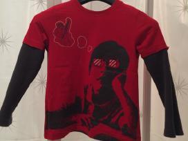 Raudoni marškinėliai berniukui