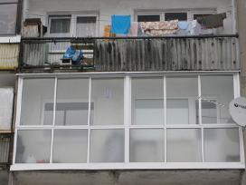 Balkonu stiklinimas. Plastikiniai langai, remontas