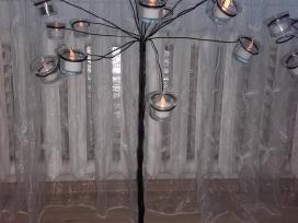 Juodo metalo zvakides 2 vnt - nuotraukos Nr. 2