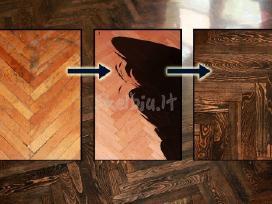 Mediniu grindu slifavimas