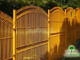 Segmentinės naujo tipo tvoros, vartai, montavimas