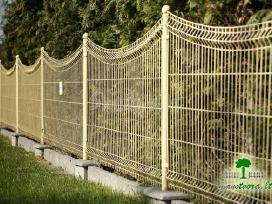 Segmentinės naujo tipo tvoros, vartai, montavimas - nuotraukos Nr. 2