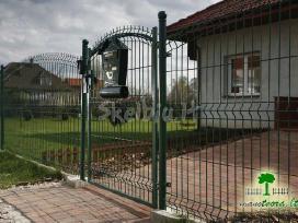 Segmentinės naujo tipo tvoros, vartai, montavimas - nuotraukos Nr. 4
