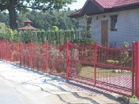 Segmentinės naujo tipo tvoros, vartai, montavimas - nuotraukos Nr. 5