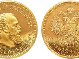 Perku Brangiai Carinės Rusijos auksines, sidabrine