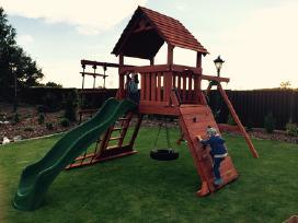 Lauko aikštelė Premium vaikams kedro mediena