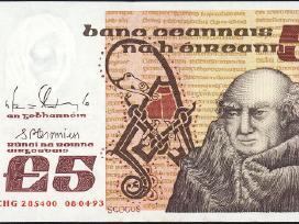 Airija 5 Pounds 1993m. P71e Xf+