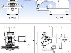 Nauja Happy Hch-701-30 siuvinėjimo mašina - nuotraukos Nr. 6