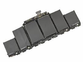 Apple MacBook kompiuterių baterijos.