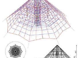 Karstymosi tinklai-piramidės. žaidimų aikštelės