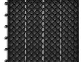 Pilkos Medžio-plastiko Kompozito Plytelės, 30x30cm