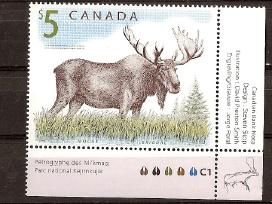 """Parduodu Kanados pašto ženklus tema """"fauna """""""