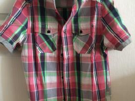 Trumparankoviai margi marškinėliai