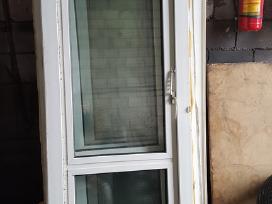 Naudotos plastikinės balkono durys 227 x 76