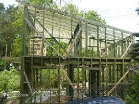 Karkasiniu namu ,pavesinių ,terasų statyba
