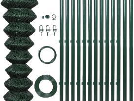 Žalia Tvora, su Stulpais, Tvirtinimo Priedais 25 m