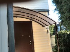 Stogeliai,stogines virs duru,balkonu,garazu,laiptu