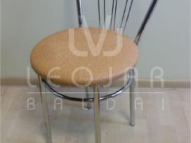 Metalinės kėdės su lenktu atlašu chromas