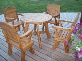 terasos baldai iš ąžuolo - nuotraukos Nr. 2