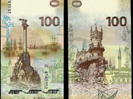 Rusija 100 Rubliu 2015m. Proginė Krymas