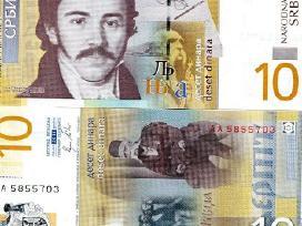 Serbija 10 Dinara 2013m. P54b Unc