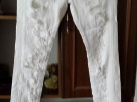 Nauji balti plesyti dzinsai su elastanu