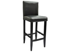 2 Modernios Juodos Dirbtinės Odos Baro Kėdės - nuotraukos Nr. 2