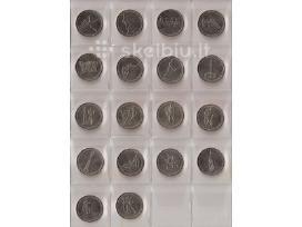 Rusija proginės monetos 5rub. ir 2rub.