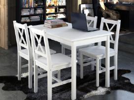 Medinis Stalas ir 4 Medinės Kėdės 240883 vidaxl