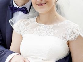 A tipo siuvinėta neilga vestuvinė suknelė - nuotraukos Nr. 3
