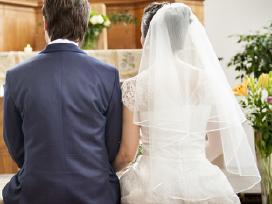 A tipo siuvinėta neilga vestuvinė suknelė - nuotraukos Nr. 4