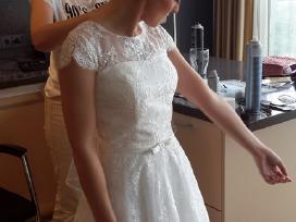 A tipo siuvinėta neilga vestuvinė suknelė - nuotraukos Nr. 6