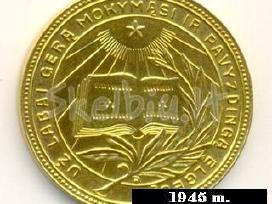 Mokslo baigimo medalių kolekcijai.