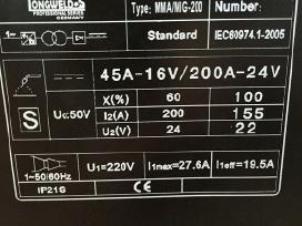 Invertorinis Kempas Mig-250ai 2in1 Mma/mig