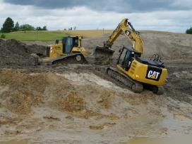 Tvenkinių ir kanalų kasimas ir valymas, aikštelės