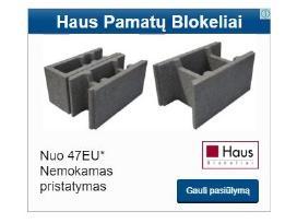 Parduodame - Haus pamatų blokeliai