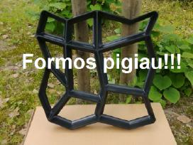 Plastikinės formos sodo takelių gamybai