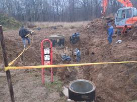 Vandentiekio, kanalizacijos, drenažo įrengimas.